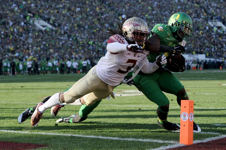Marshall had 5 catches for 20 yards in the semifinal win vs. Florida State. (Getty)