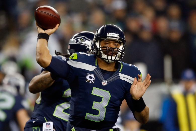 Russell Wilson and the Seahawks host their second-straight NFC Championship Game next weekend. (Getty)