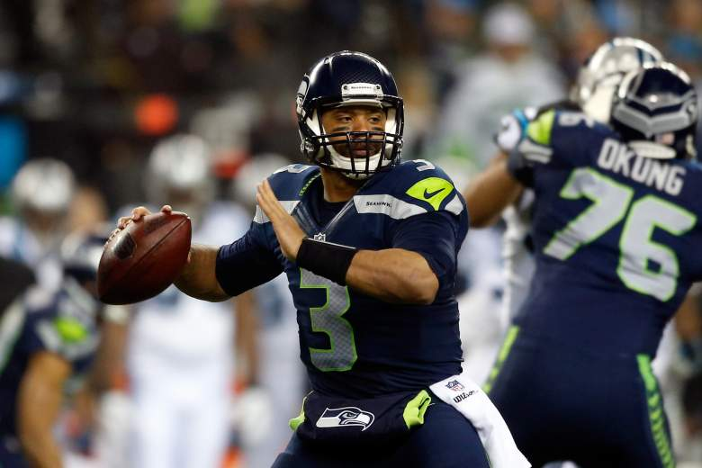 Russell Wilson and Seattle Seahawks are slight underdogs in most sportsbooks for Sunday's Super Bowl. (Getty)