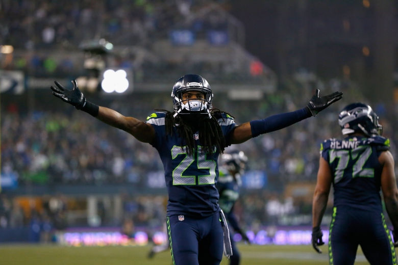 Richard Sherman and the Seattle Seahawks are a victory away from the their 2nd-consecutive Super Bowl appearance. (Getty)