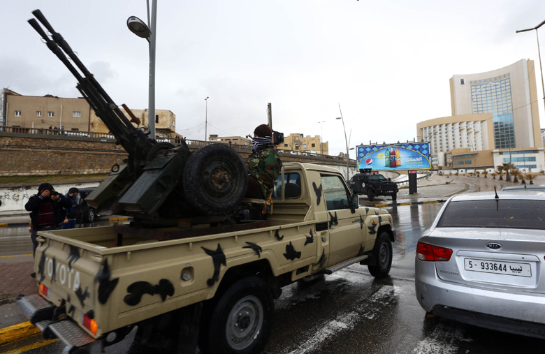 Libyan security forces. (Getty)