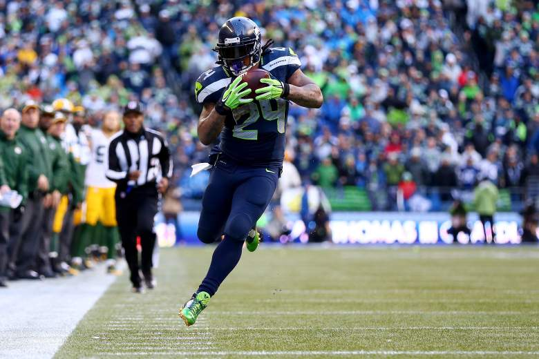 Marshawn Lynch and the Seattle Seahawks are looking to become the first back-to-back Super Bowl champions since the Patriots, their Sunday opponent, did it in 2004 and 2005.