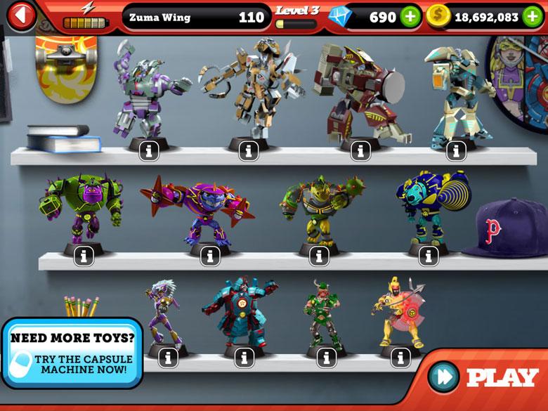 Battle of Toys Cheats