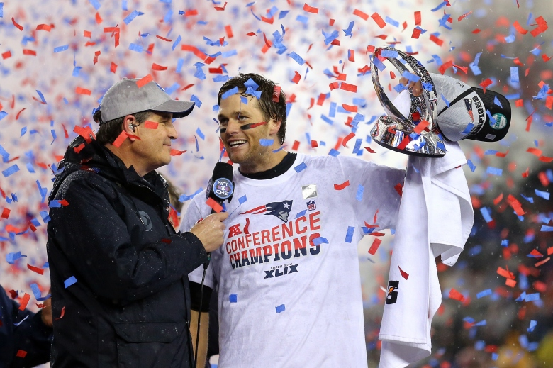 Tom Brady and Jim Nantz