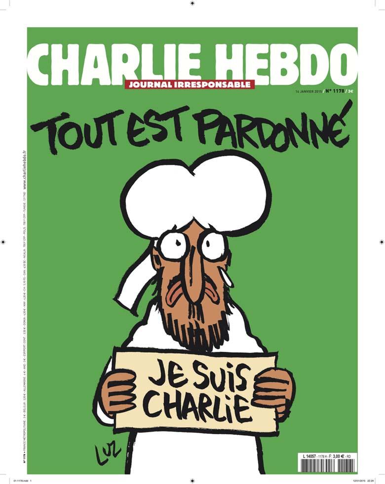 charlie hebdo, january 14 issue, cartoons