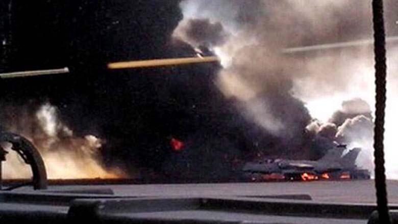 greek f16 jet, crash, spain, airbase