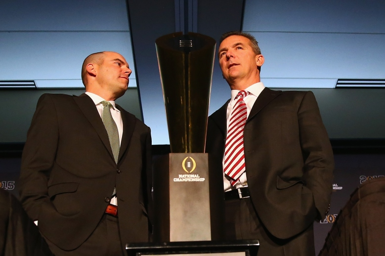 Urban Meyer and Mark Helfrich, College Football Playoff national championship game