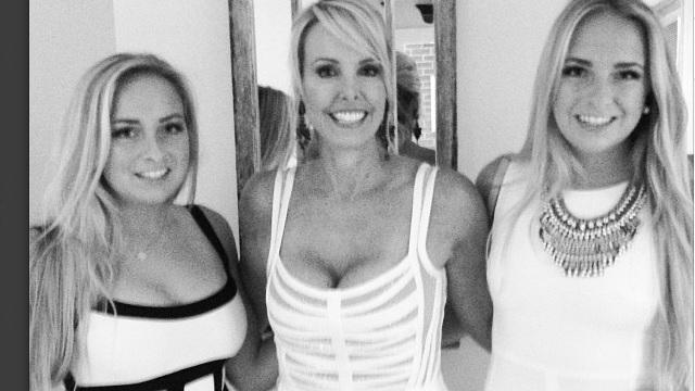 Ashley and Katie Hess with their mother Linda Holliday, who is Bill Belichick's girlfriend. (Instagram)