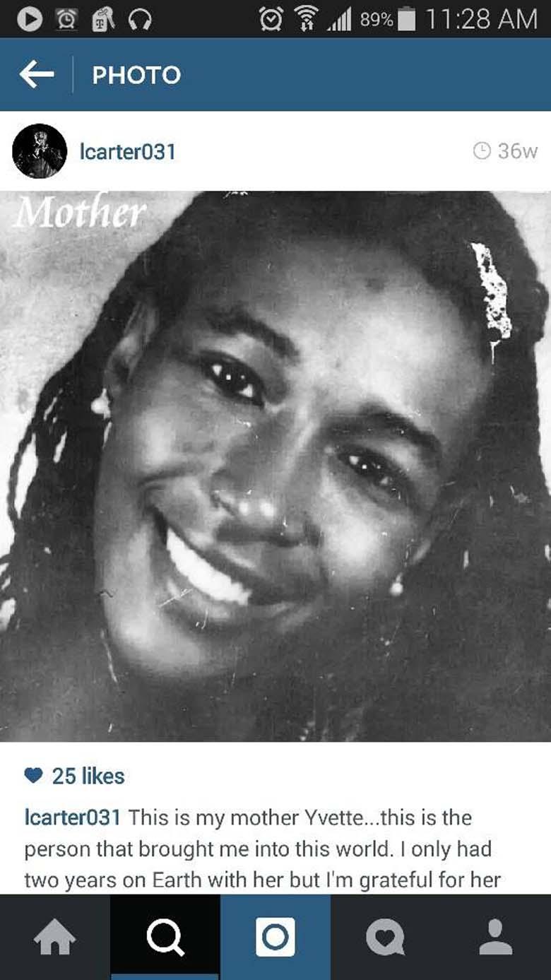 Lamar Carter's mother