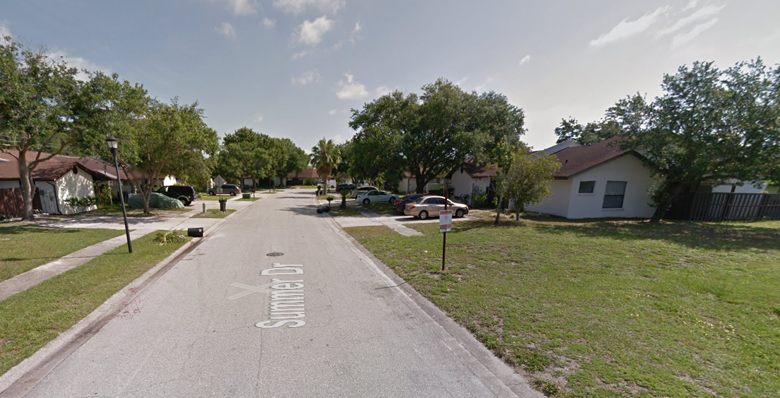At the time of his last arrest, in 2013, Jonchuck was living here, along Summer Driver in Greater Carrollwood, Florida. (Google Street View)