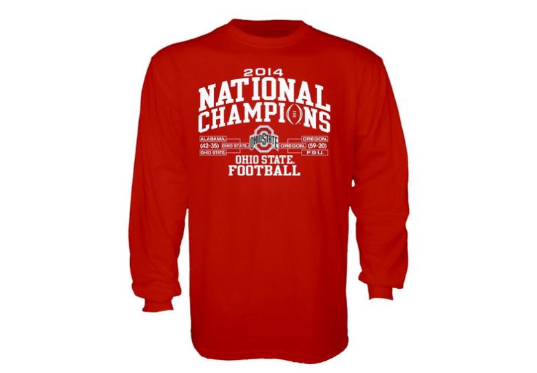 Ohio State championship long-sleave t-shirt