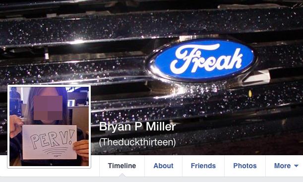 Bryan Miller murderer killer Facebook