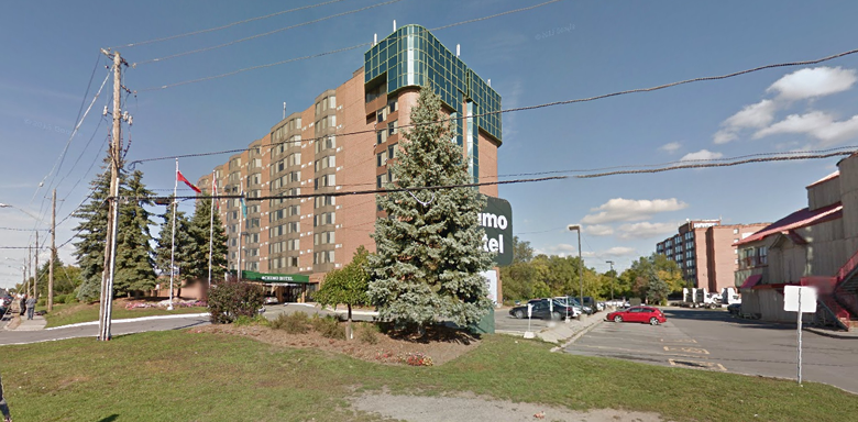 Phillips was arrested at this hotel in Ottawa. (Google Street View)