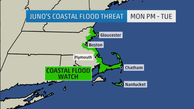 Coastal flood watch for Winter Storm Juno