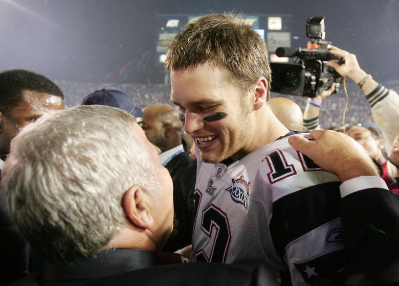 Tom Brady and Robert Kraft, Super Bowl XXXIX, Patriots Eagles Super Bowl 2005