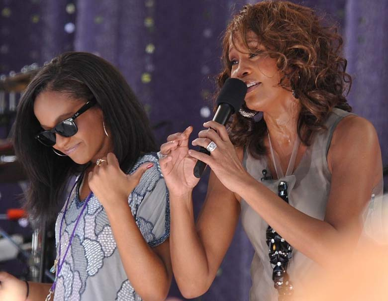 Bobbi and her mother on Good Morning America in 2009. (Wikipedia)