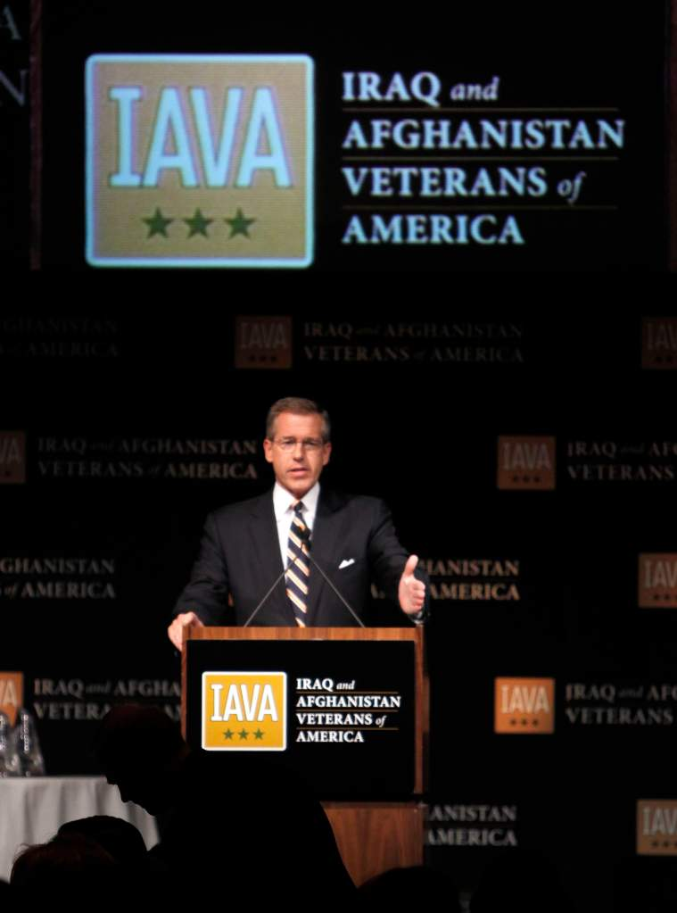 Brian Williams speaks at Iraq and Afghanistan Veterans of America Annual Heroes event (Getty)