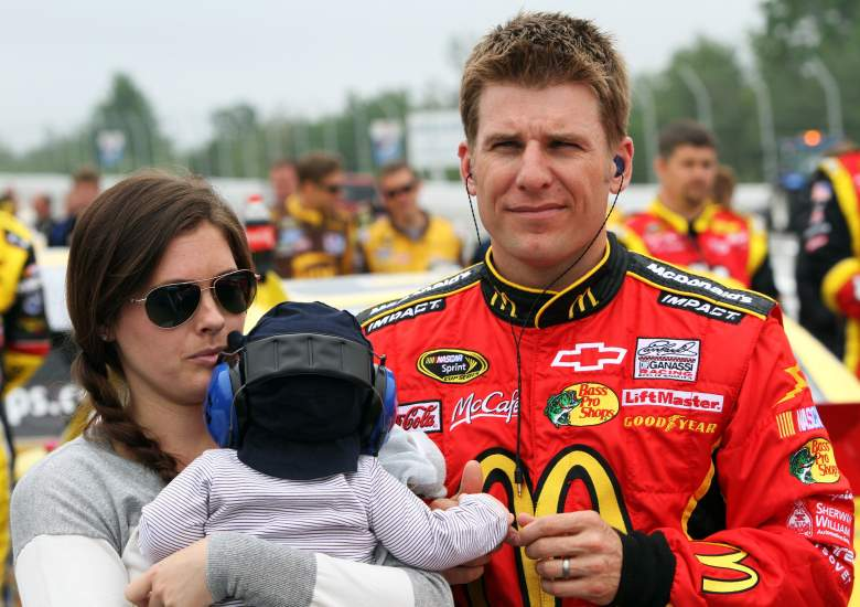Jamie McMurray with his wife Christy and daughter. (Getty)
