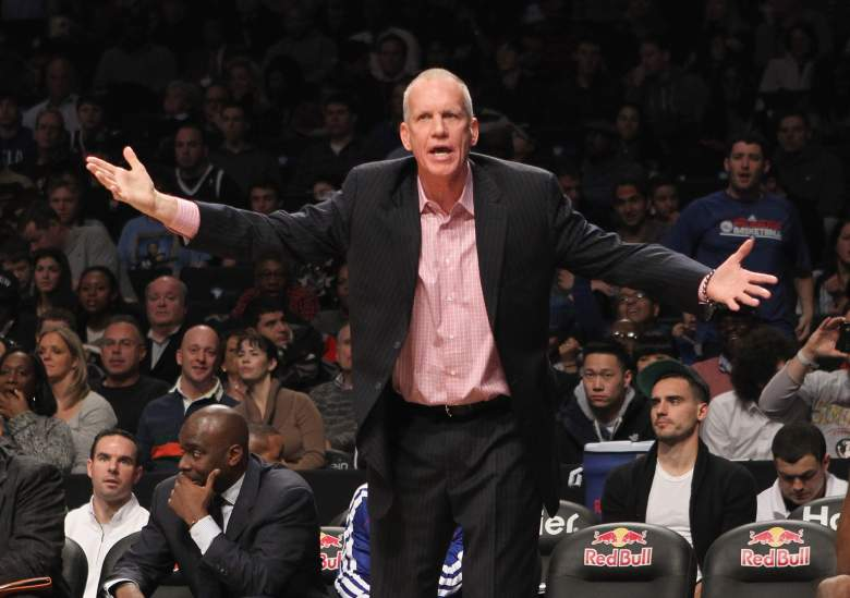 Doug Collins coached on the sideline for the Philadelphia 76ers. (Getty)