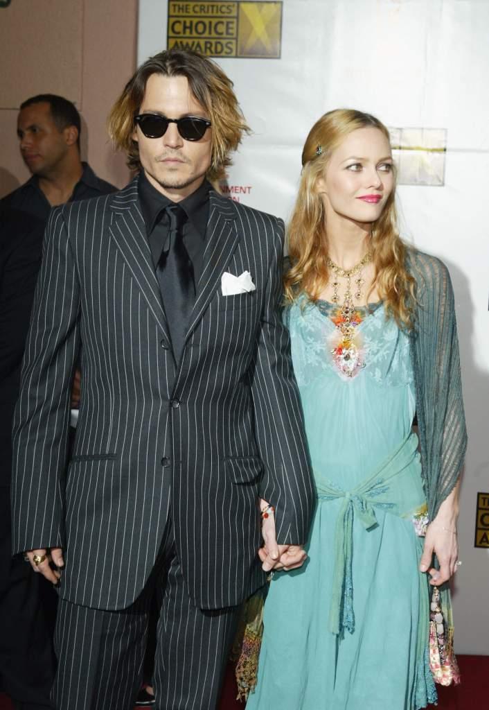 Depp with ex-love Vanessa Paradis (Getty)