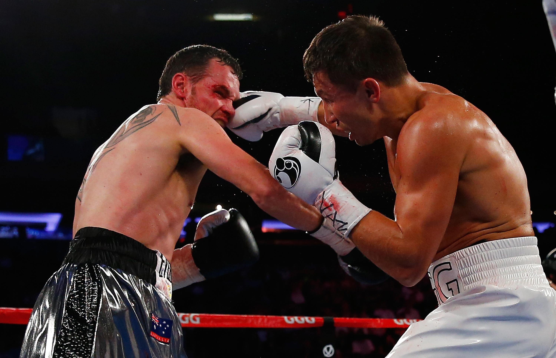 Gennady Golovkin punches Daniel Geale (Getty)