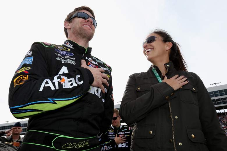 Carl Edwards with his wife Katherine. (Getty)
