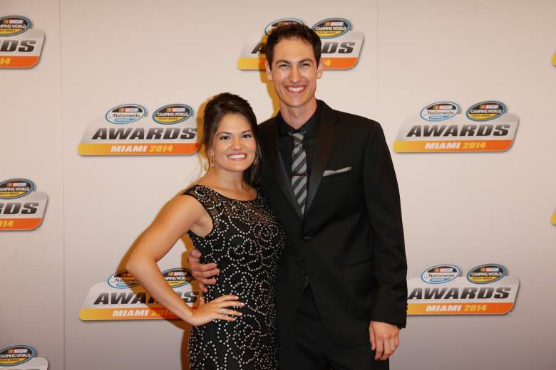 Joey Logano and wife Brittany. (Getty)