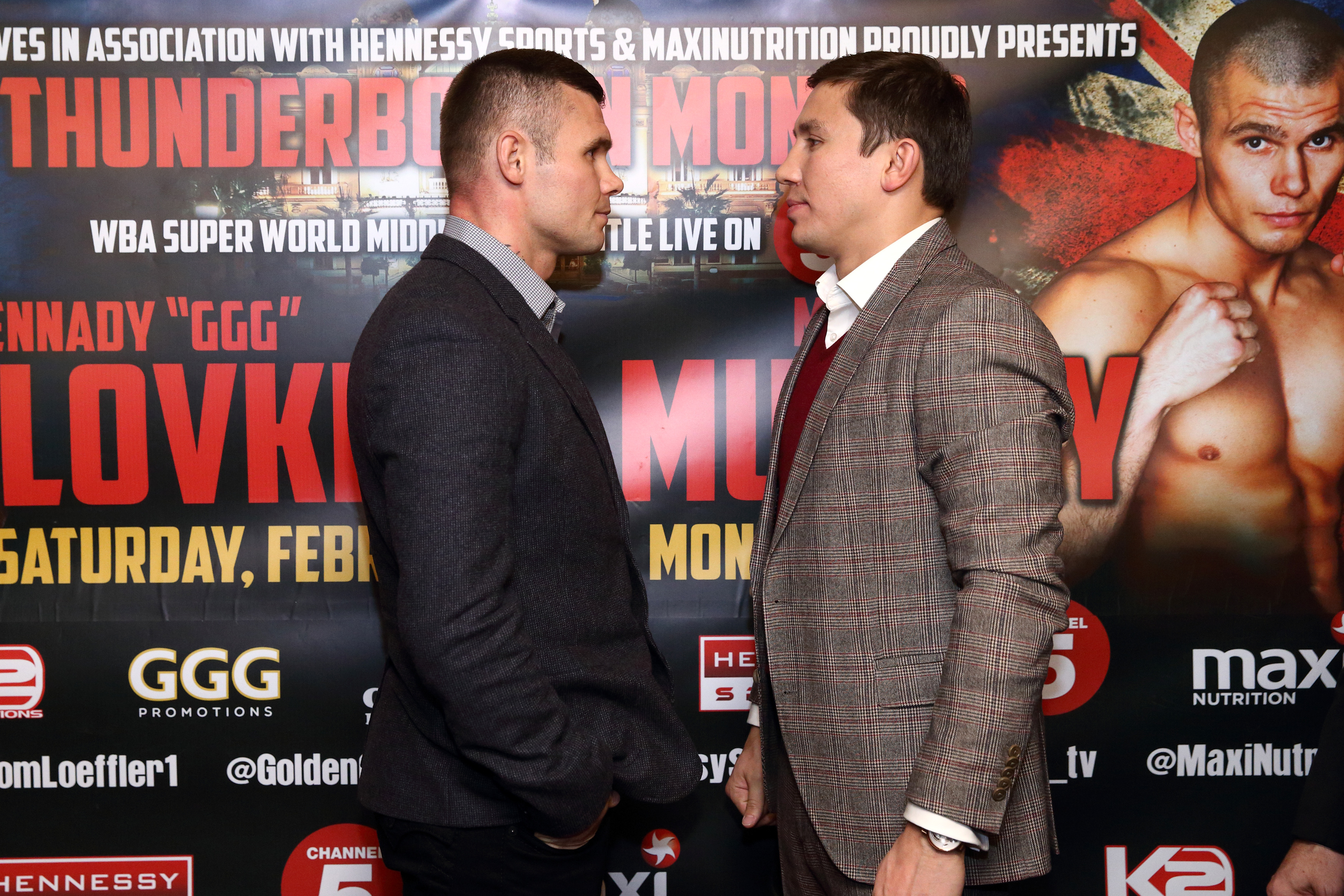 Martin Murray and Gennady Golovkin (Getty)
