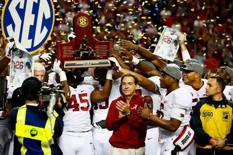 Nick Saban and Alabama secured the top 2015 recruiting class in the SEC once again. (Getty)