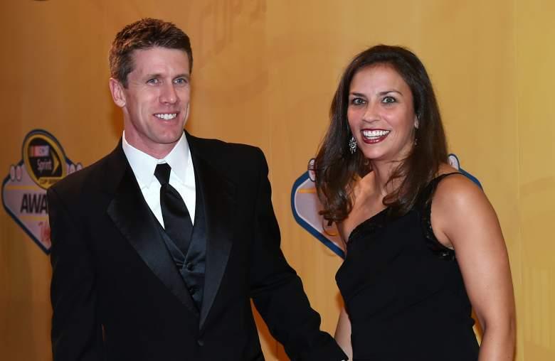 Katherine Downey, Carl Edwards, Wife