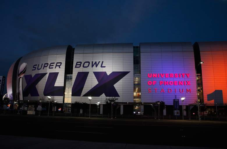The University of Phoenix Stadium, the site of Super Bowl XLIX. (Getty)