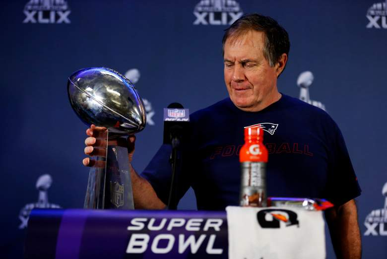 New England Patriots head coach Bill Belichick made an appearance on The Late Show With David Letterman on Wednesday. (Getty)
