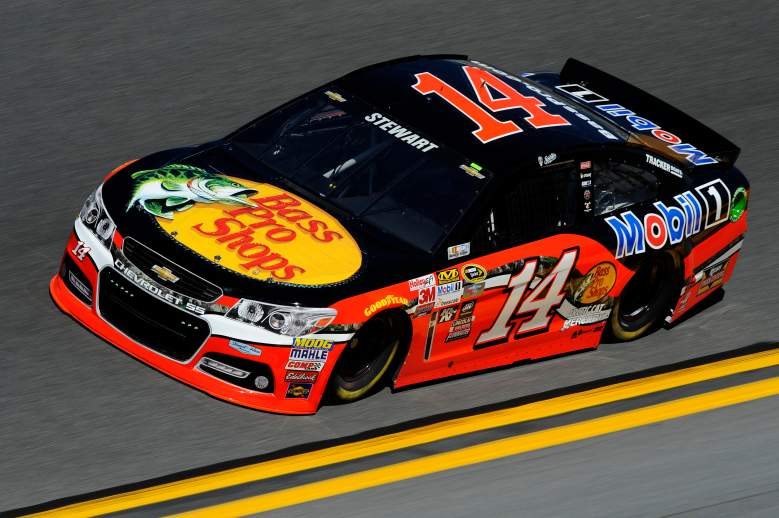 Tony Stewart hit the wall and had to go to the garage for repair. (Getty)
