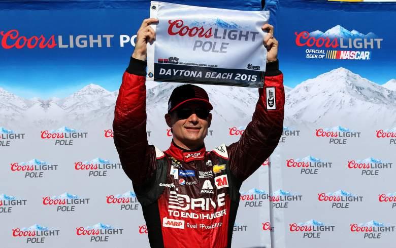 Jeff Gordon won the Daytona 500 pole Sunday. (Getty)