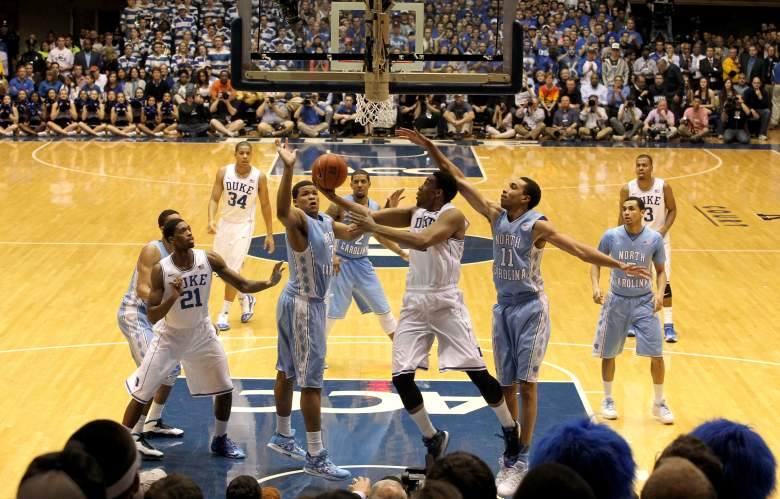 Duke and North Carolina meet for the first time season Wednesday night at Cameron Indoor Stadium. (Getty)