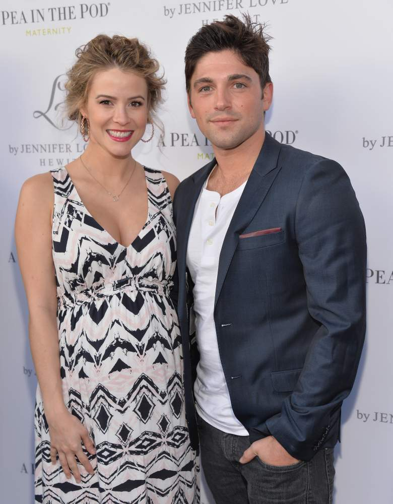 Linsey with fiance Robert Adamson (Getty)