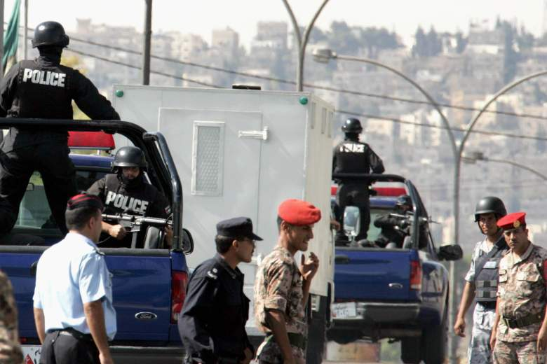 Security was tight outside the Jordanian courtroom where al-Rishawi was sentenced to death in 2006