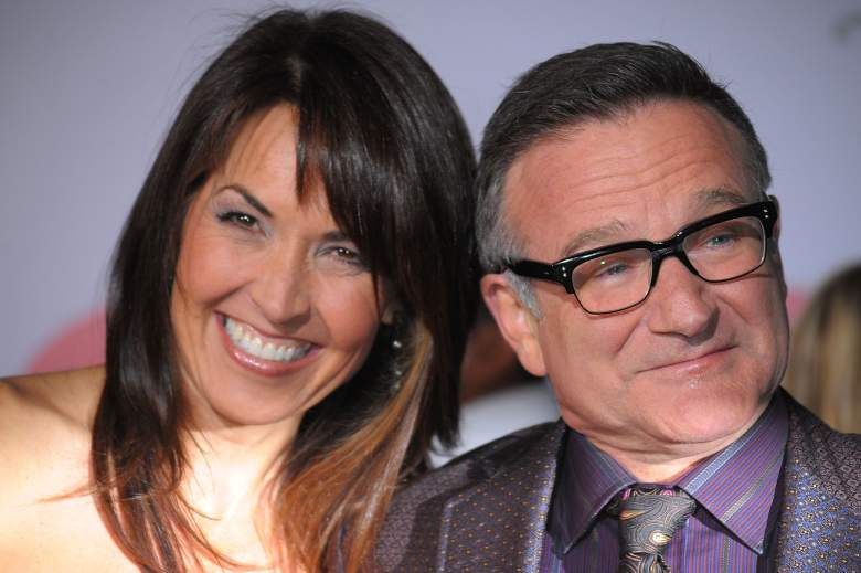 Robin Williams with wife Susan Schneider (Getty)