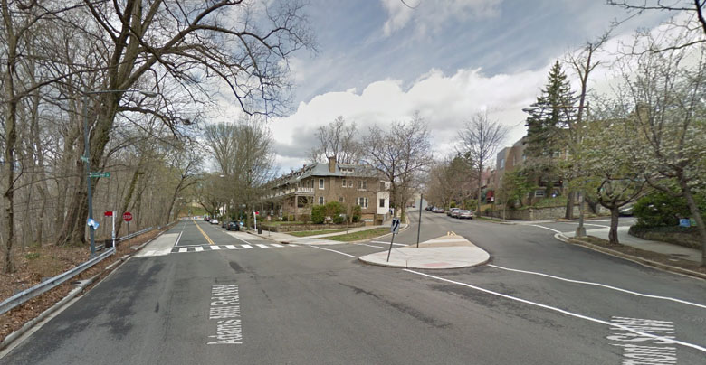 Rosen was arrested at his home here along Adams Mill road in D.C. (Google Street View)