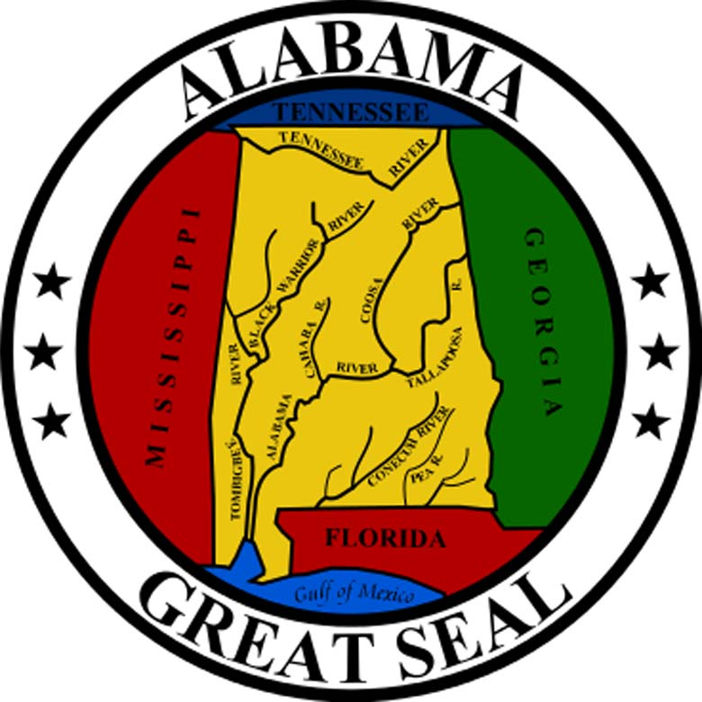 State seal of Alabama. (Wikipedia)