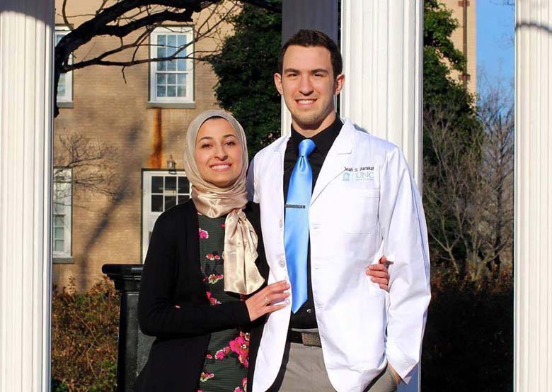 Deah Barakat and Yusor Mohammad Barakat on their wedding day. (Facebook)