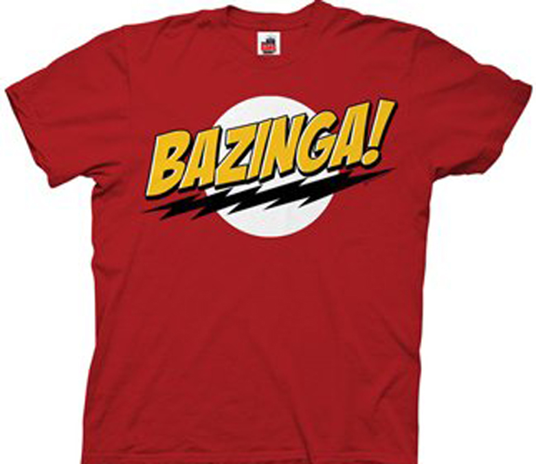 bazinga t shirt, sheldon t shirts
