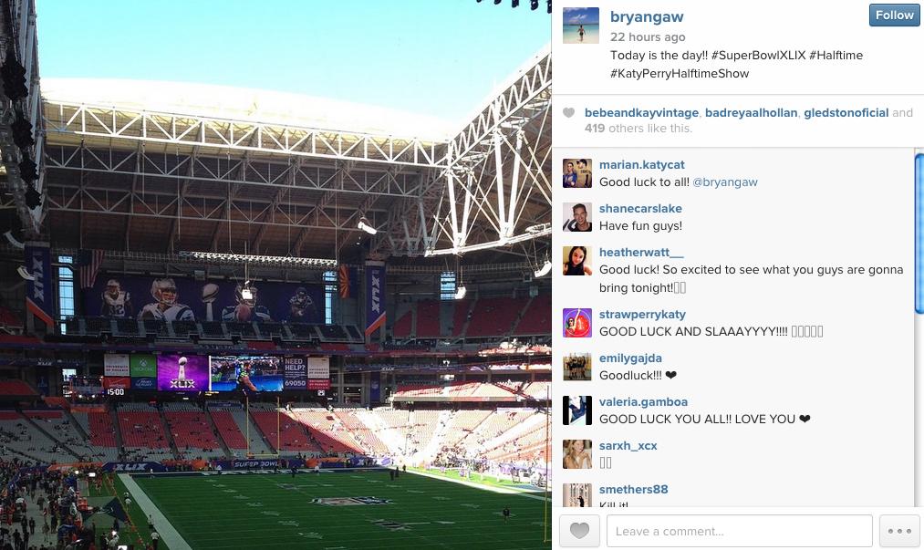 Bryan Gaw Instagram