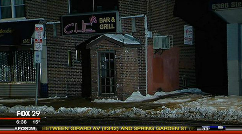 Che Bar & Grill where the attack occurred. (Screengrab via My Fox Philly)