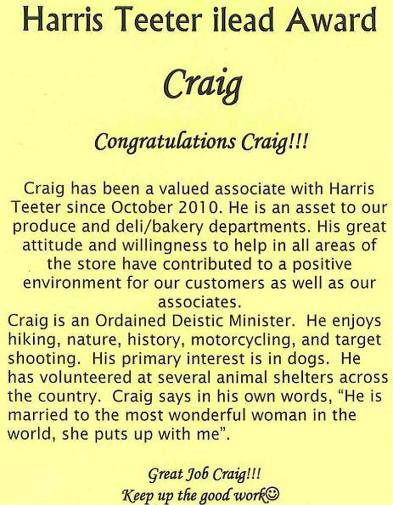Craig Hicks Harris Teeter