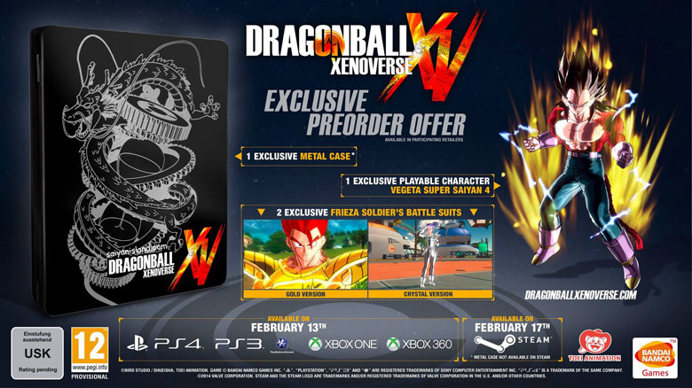 DBZ Xenoverse Day One Edition