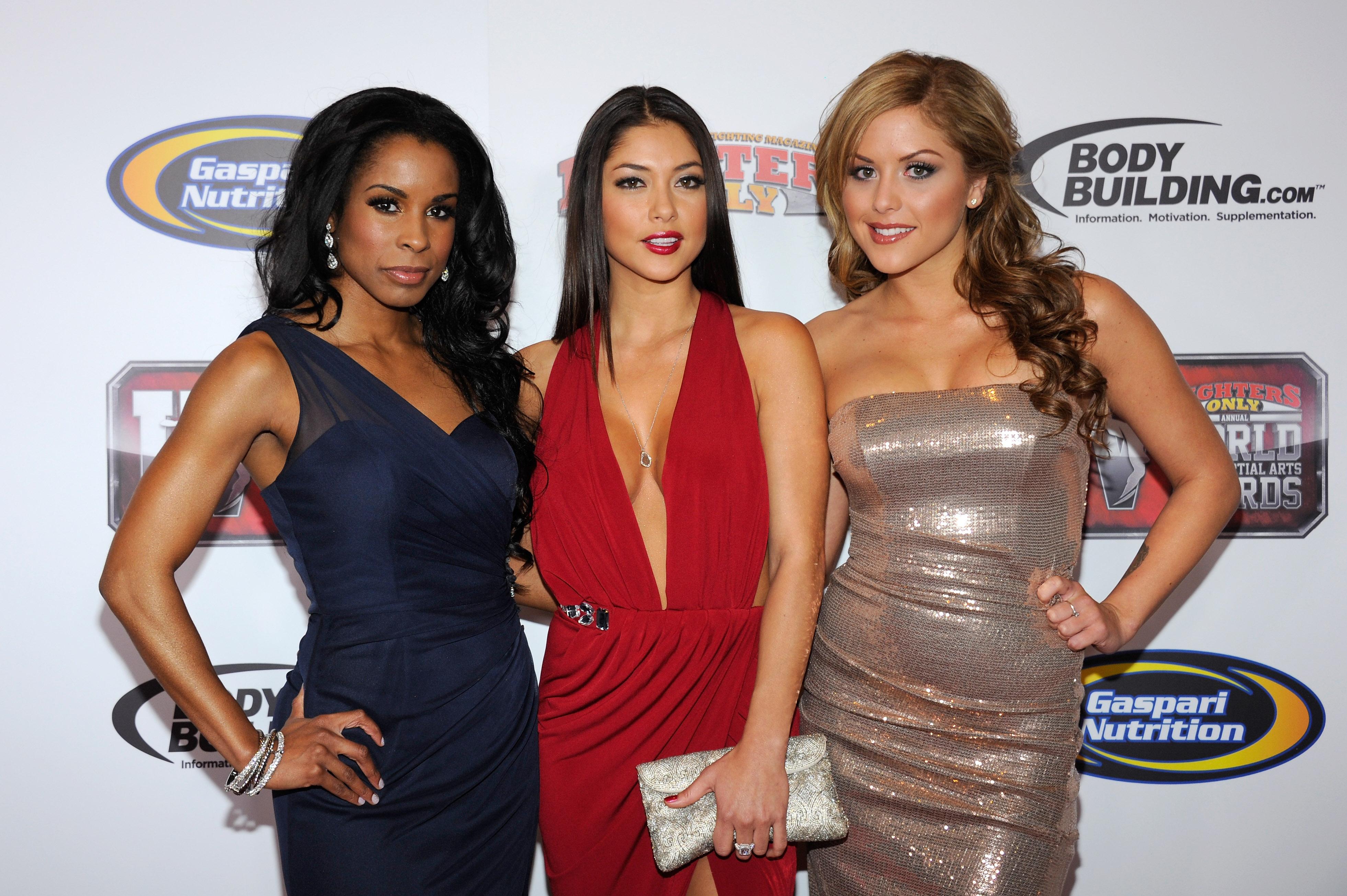 UFC Octagon Girls Chandella Powell, Arianny Celeste and Brittney Palmer. (Getty)