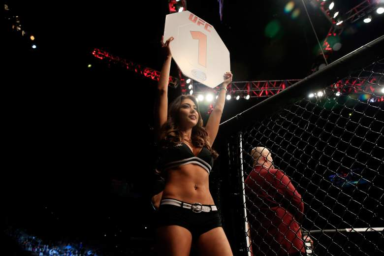 UFC Octagon girl Arianny Celeste has had an ongoing feud with fighter Ronda Rousey. (Getty)