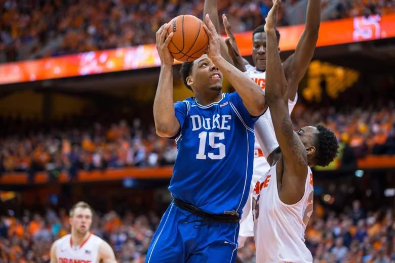 Jahlil Okafor leads No. 4 Duke vs. Syracuse on Saturday. (Getty)
