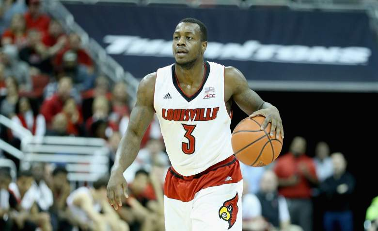 Former Louisville guard Chris Jones has been charged with rape and sodomy. (Getty)